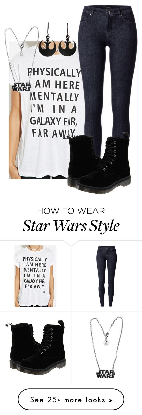 """Star Wars: The Force Awakens"" by anna300044 on Polyvore featuring Forever 21, Dr. Martens and GE"