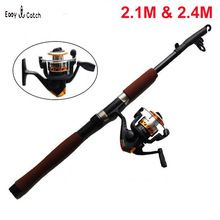 HOT sell 2 1M 2 4M Portable cheap Telescopic Fishing Rod and Reel Combos Kits Freshwater
