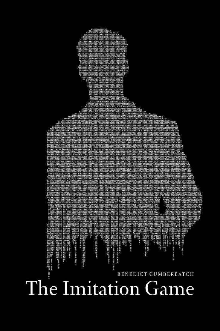 The Imitation Game by Authorial Minimalist Posters <<< In here you see Benedict playing a person with a similar attitude of BBC's Sherlock.