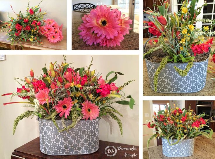 Downright Simple: Spring Flower Arrangement
