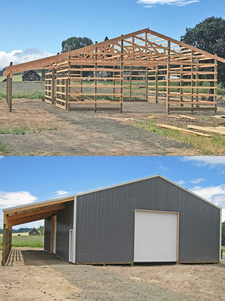 40 X 60 X 14 Ag Building With A Lean Too Overhead Doors And Walk In Door Http Www