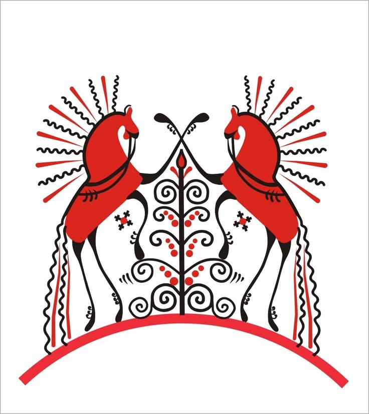 Мезенская роспись - Mezenskaya Folk Art - Mezen River Valley, Russia