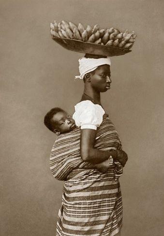 Fotografias do século XIX mostram a cara da escravidão no Brasil Imperial - Mãe e filho em Salvador, em 1884