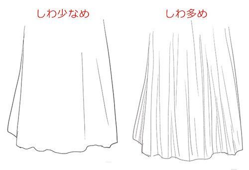 シワの入れ方で素材感に違いが出る 服 しわ シワ ドレス 描き方 イラスト  Drawing Fabric Folds Drapery Clothes Dress Tutorial Illustration