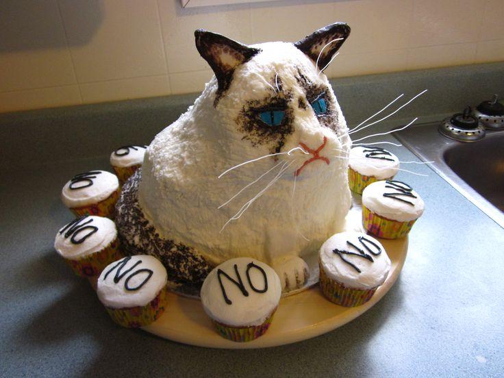 ... Cake, Grumpy Cat Birthday, Grumpy Cat Quotes, Cake Grumpycat, Birthday