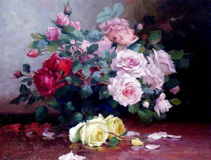 La peinture de fleurs Yuri Nikolaev.