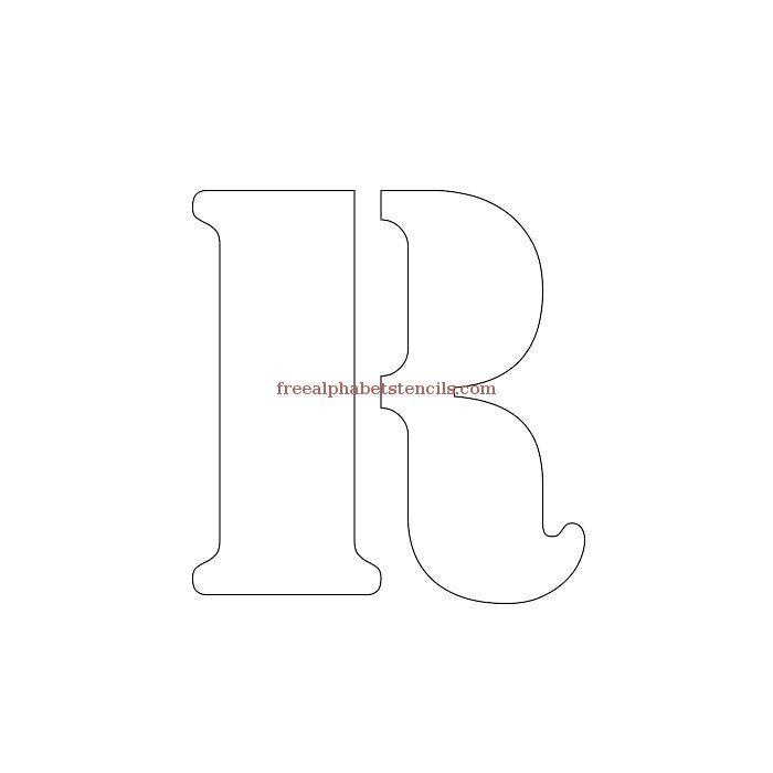 Uppercase Alphabet Stencil R