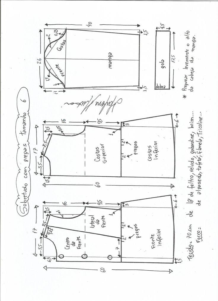 Patrón para hacer un lindo abrigo de otoño-invierno para niñas. Se puede personalizar quitando o dejando los detalles de el volante o puntilla, tanto de la parte de bajo del vestido como la de los …