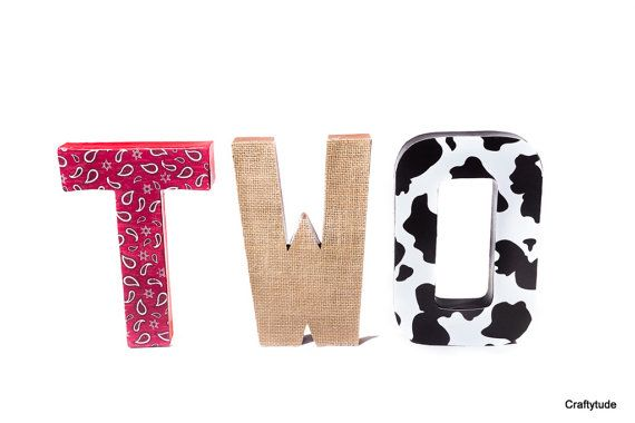 Cowboy Party Decoration Farm theme party Cowgirl by Craftytude