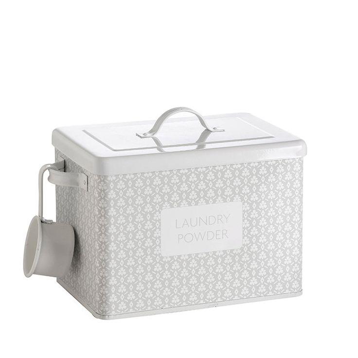 Retro Kitchen Laundry Powder Tin Spring Grey - Fast Shipping