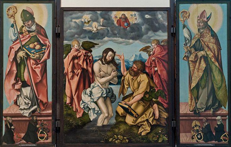 Hans Baldung Grien or Grün (German, c.1484–1545), Winged Altarpiece of St John the Baptist, 1520, oil on panel, Historisches Museum, Frankfurt.