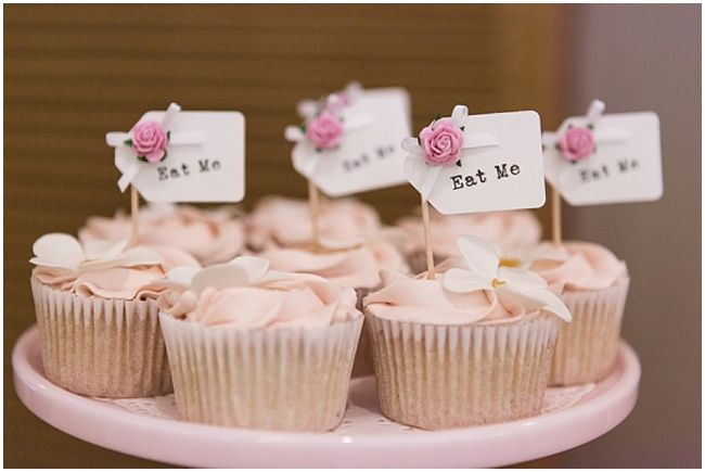 Eat Me cupcakes by Sweet Tiers | Stylish White & Dusky Pink Wedding featuring Manolo Blahniks by Cristina Rossi Wedding | Nu BrideNu Bride