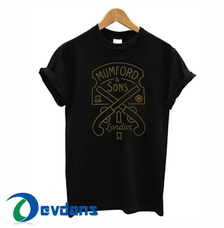 Mumford & Sons logo T-shirt men and women adult unisex size S to 3XL