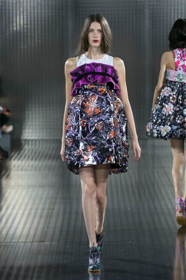 Katrantzou's Accessorized Spring - For Mary Katrantzou, it's all about shoes  for her eponymous label's spring 2014 collection. A highlight of London  Fashio
