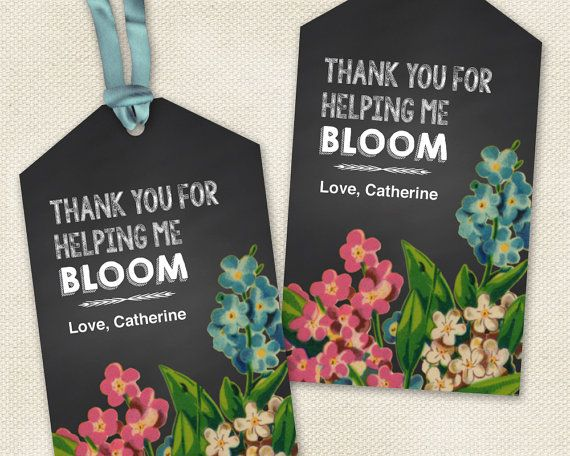 printable teacher gift tags thanks for helping me bloom for