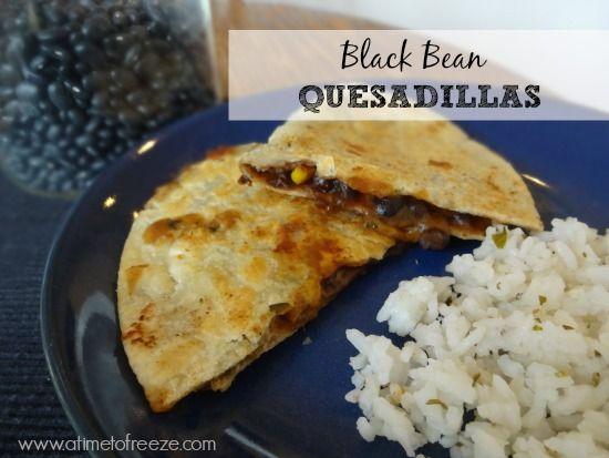 Black Bean Quesadillas | Recipe | Freezer meals, Avocado chicken and ...