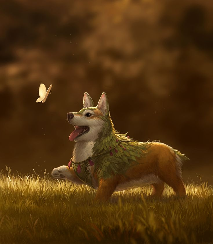 Flower Corgi by sandara.deviantart.com on @DeviantArt