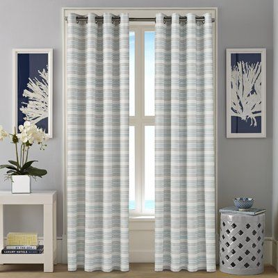 Nautica Westbrook Striped Room Darkening Curtain Panels