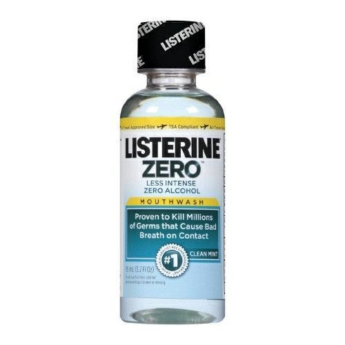 Mouthwash Listerine Zero 3.2 oz. Clean Mint Flavor | Johnson & Johnson
