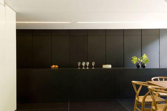 Une cuisine qui se cache : Portes escamotables - Une cuisine élégante et discrète Hidden kitchen Bar
