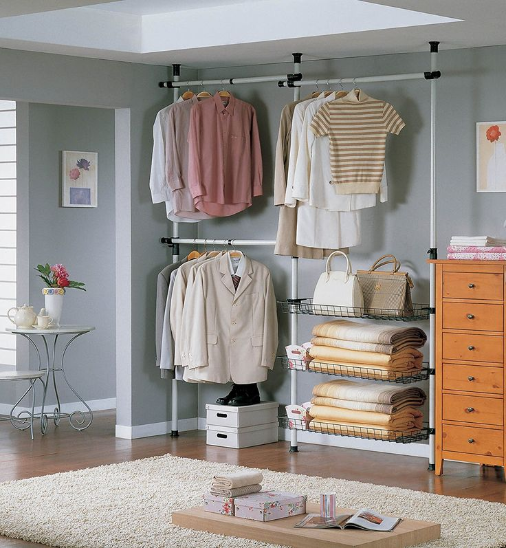 SoBuy® FRG34, Telescopic Wardrobe Organiser, Hanging Rail, Clothes Rack, Storage Shelving: Amazon.co.uk: Kitchen & Home