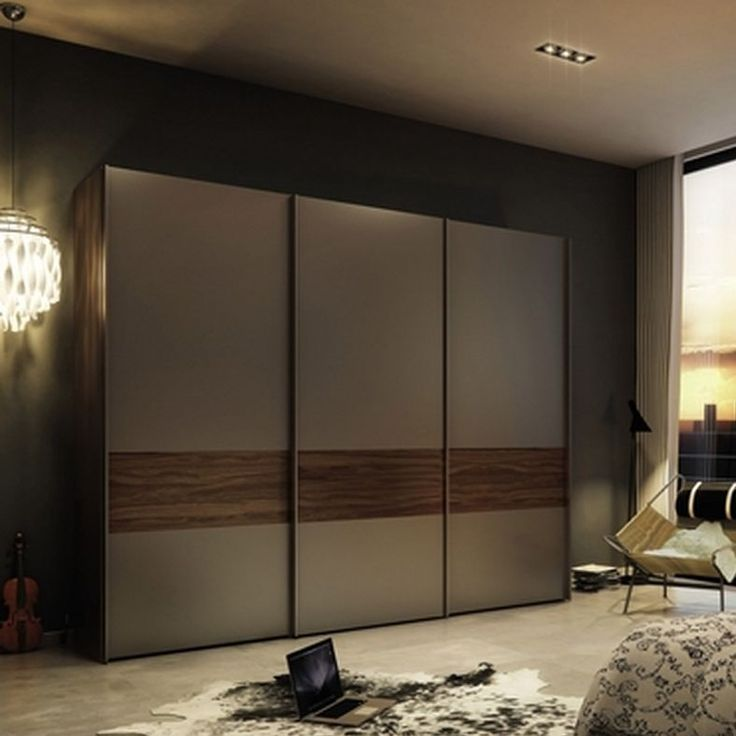 Wardrobe With Sliding Doors Hpd438 - Sliding Door Wardrobes - Al Habib Panel Doors
