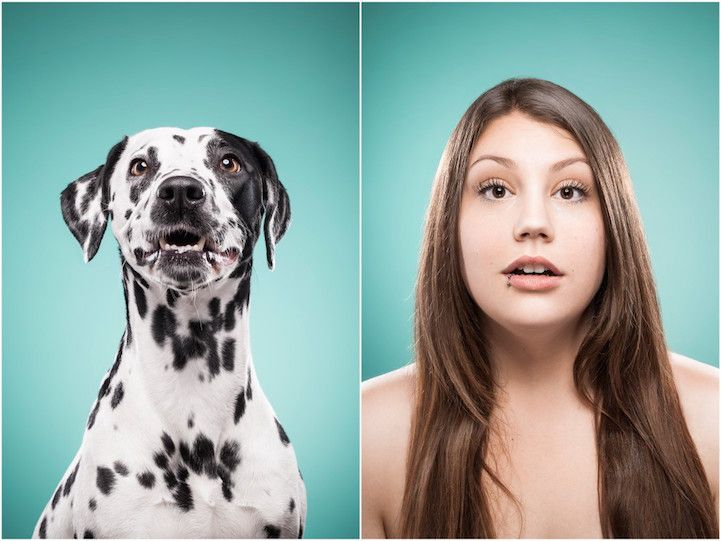 Pet Owners Mimic Their Dogs in Adorable Look-Alike Portraits - My Modern Met