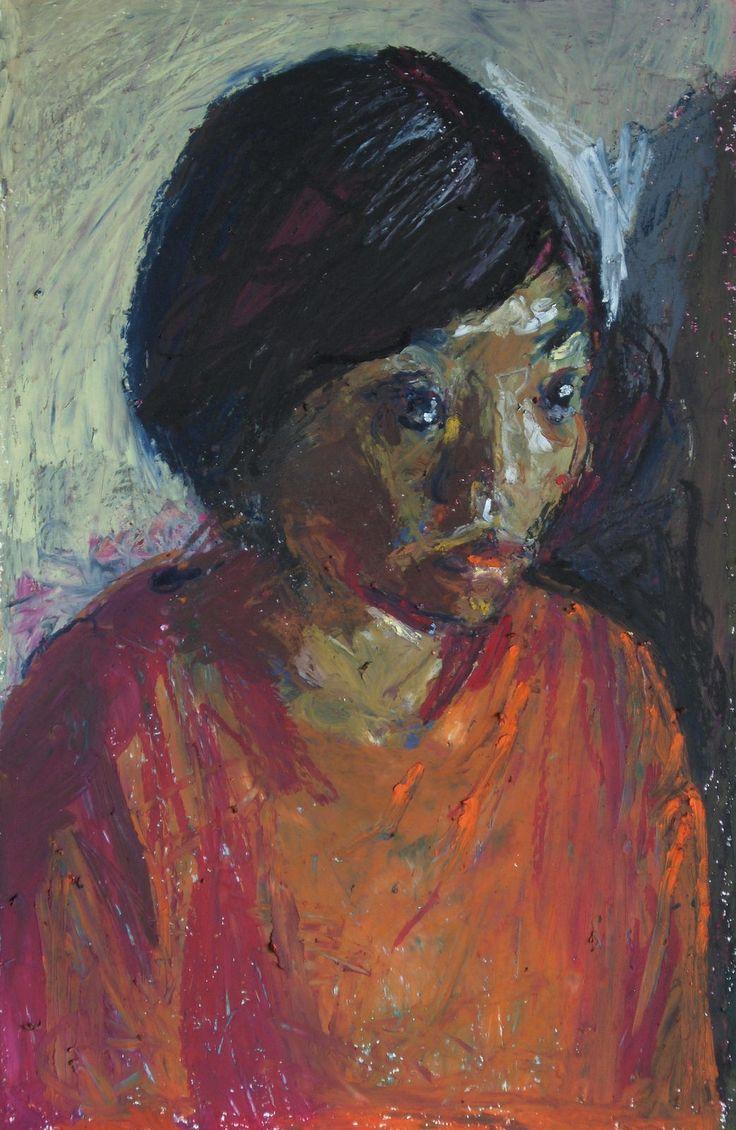 https://flic.kr/p/BNgtQG   portrait of a woman   oil pastels