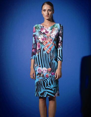 Fehu Turquoise Print Dress 53227