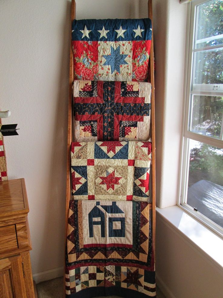137 best Quilt ladders images on Pinterest | Projects, Workshop ... : quilt display ladder - Adamdwight.com