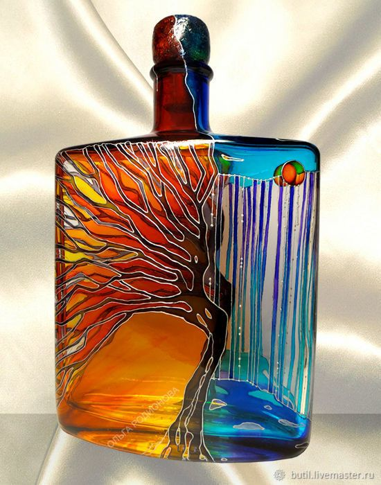 Olga Rodionova - hand painted bottle