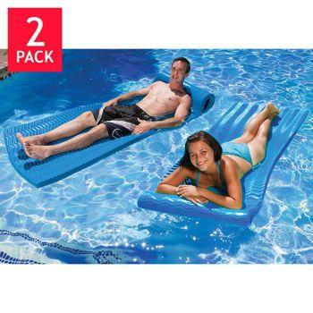 "Poolmaster Soft Tropic Mattress 2-pack full-width 10"" roll pillow"