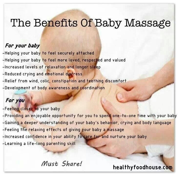 The Benefits of Baby Massage  How often do you massage your baby? SHARE this to other mothers too!