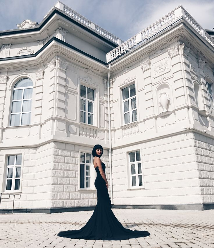 Long black dress Outfit Fashion