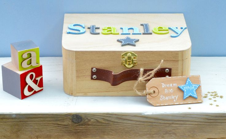 Baby Keepsake Box Christmas Gift Children's suitcase style Memory Box New Baby Gift Birthday Gift Personalised Memory Box by Popsyclunk on Etsy