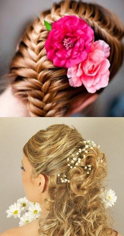 Прическа и макияж. Свадебные прически с живыми цветами выбирайте на Svoipravila.ru