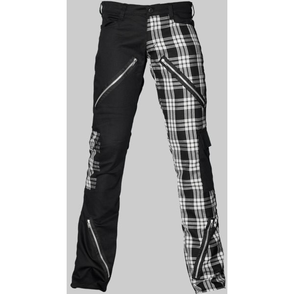 """Gothic punk pants from the Aderlass """"Black Pistol"""" clothing line ($3.77) ❤ liked on Polyvore"""