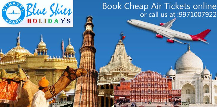 Book your flight tickets online with Blue Skies Holidays at best prices.