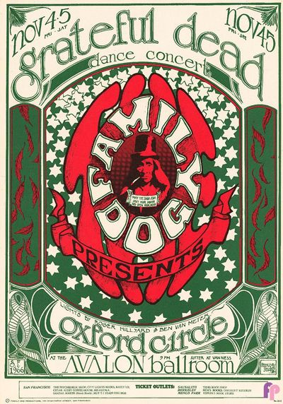 Classic Poster - Grateful Dead at Avalon Ballroom 11/3-4/66 by Stanley Mouse & Alton Kelley