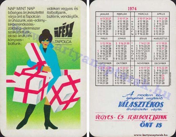 1974 - 1974_0747 - Régi magyar kártyanaptárak
