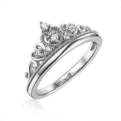 Zilveren Ring Kroon met Zirkonia