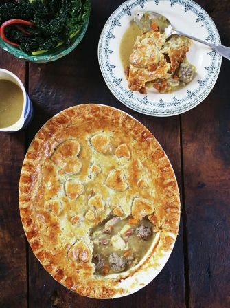 Lindsay Lohan's chicken pot pie