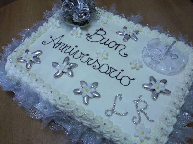 L'Angolo dolce di Federica: Torta per 25° Anniversario di Matrimonio e Biscott...