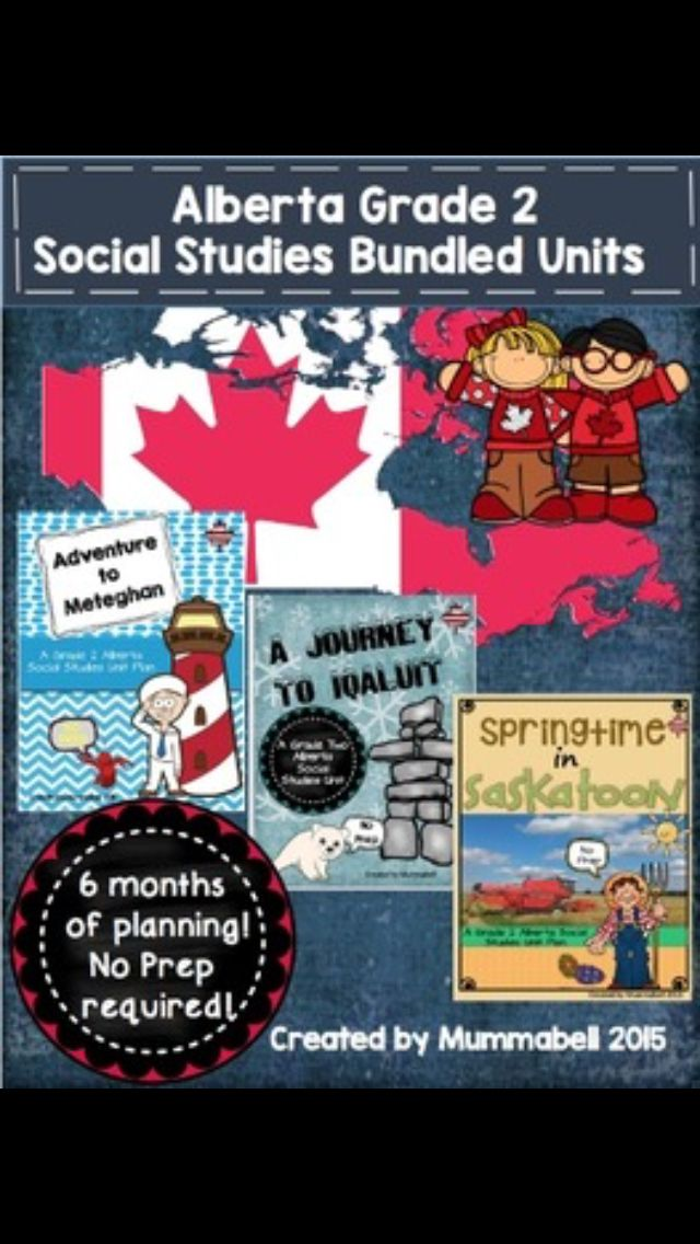 Alberta grade 2 social - Saskatoon, iqaluit, and Meteghan all planned out. 6 months worth of planning - done!! https://www.teacherspayteachers.com/Product/Grade-2-Alberta-Social-Studies-Bundled-Units-2182169