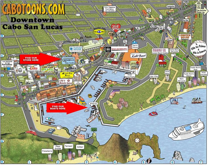Cabo San Lucas Map Near Riu Palace Resort Cabo Hotel Map