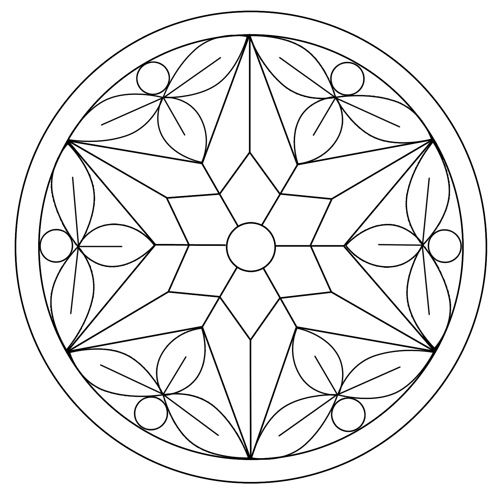 Free Embroidery Pattern: 6-point star: Opus Elenae
