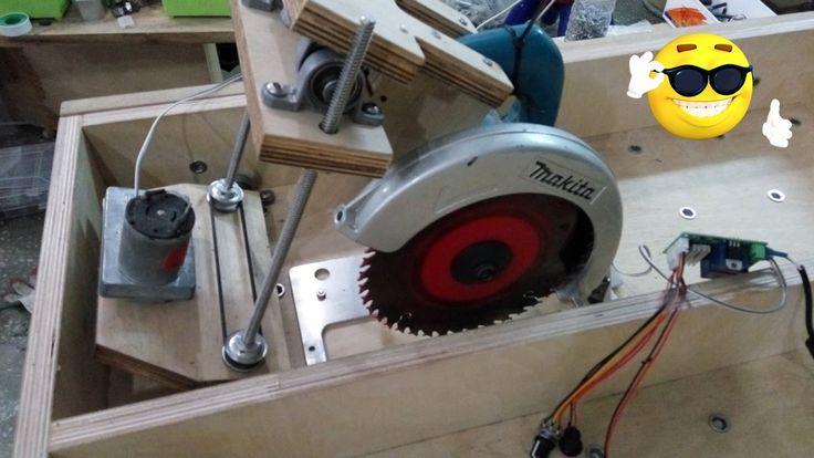 home made tablesaw lift, makita 5740nb auto lift(part2 making saw lift)