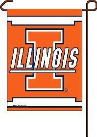 """Illinois Fighting Illini 11""""x15"""" Garden Flag"""