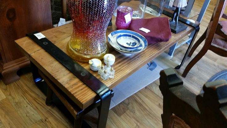 Hidden under all those trinkets is one stunning coffee table #collingwood #treasures