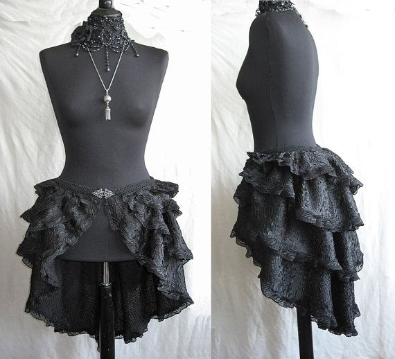 Bustle skirt Segura burlesque victorian by SomniaRomantica on Etsy, $119.00